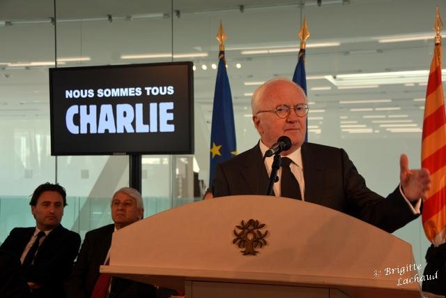 MARSEILLE - VOEUX DU PRÉSIDENT DE LA REGION MICHEL VAUZELLE MINUTE DE SILENCE