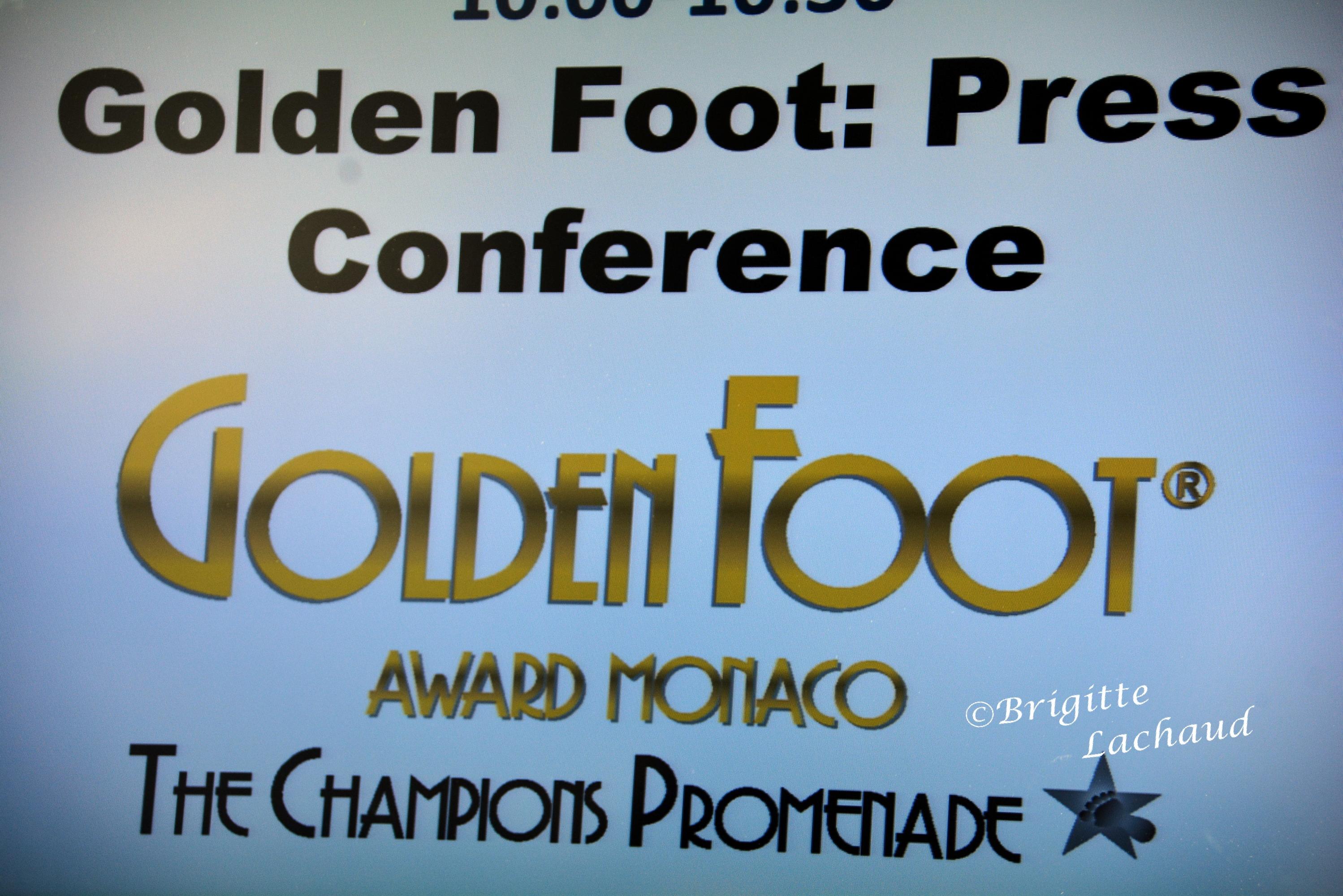 LES GOLDEN FOOT SONT ARRIVEES A MONACO