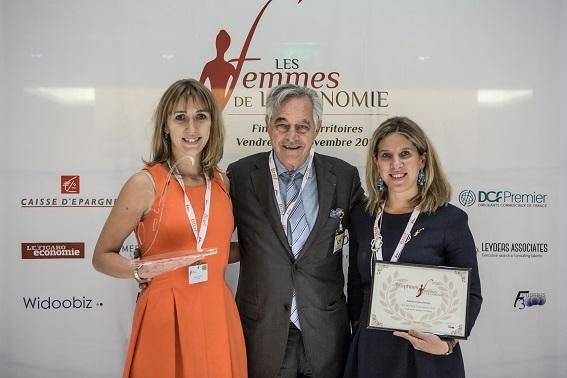 Peggy Santerre ( PACA et Monaco) laur+®ate d'or et Sabine Vajou Ponsin ( Grand Est) laur+®ate de bronze - prix femme +á l'International