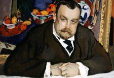 Valentin Serov, Portrait du collectionneur de la peinture modern
